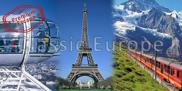 12 Nights Europe Classic Premium Escape Tourism Holiday Packages